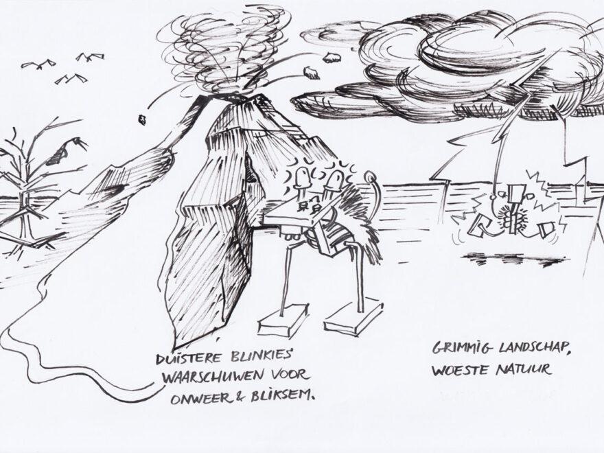 tekening-Niko-uitvinder-Barre-Gebergte
